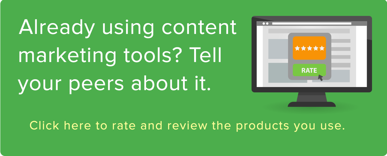 Rate & Review Content Marketing Software